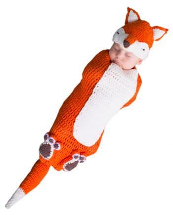 Gehäkelter Baby Kostümsack Fuchs
