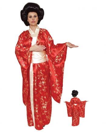 Geisha Kimono rot Premium Kostüm
