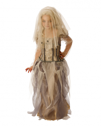 Ghost Bride Costume With Veil For Children