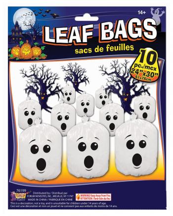 Geister Laubsäcke 10 Stück