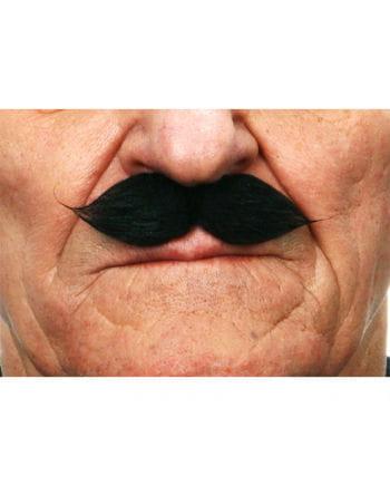 Schwarzer Gentleman Schnurrbart