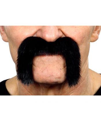 Adhesive biker mustache black