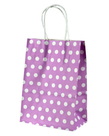 Gift Bag Lilac Spotted Small