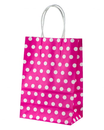 Gift Bag Pink Dotted Small