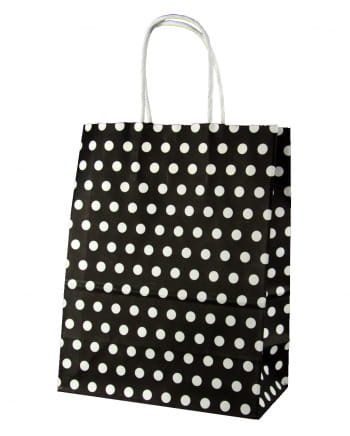 Gift Bag Black Spotted Big
