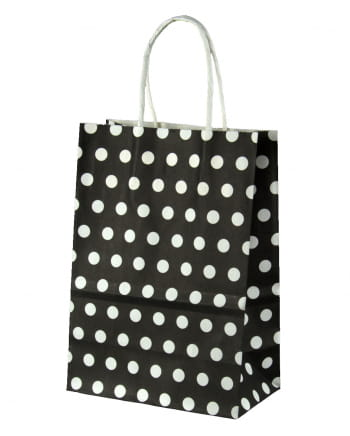 Gift Bag Black Dotted Small