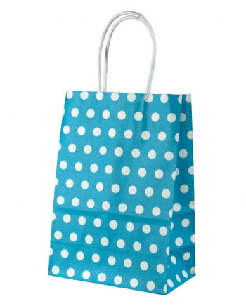 Gift Bag Turquoise Dotted Small