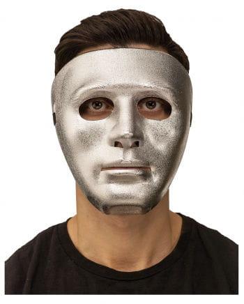 Silberne Gesichtsmaske