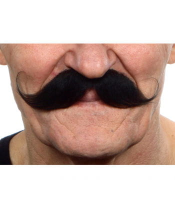 Gezwirbelter mustache black brown
