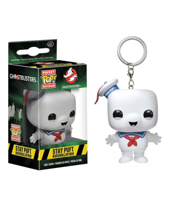 Ghostbusters Stay Puft Funko Keyring Pendant