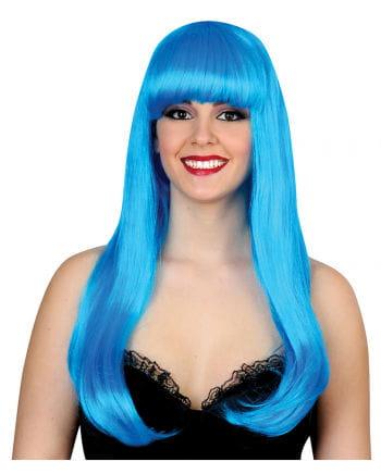 Meerjungfrau Perücke Neonblau