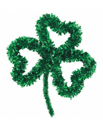 St. Patrick's Day Tinsel Clover Decoration