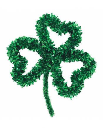 St. Patricks Day Kleeblatt aus Lametta
