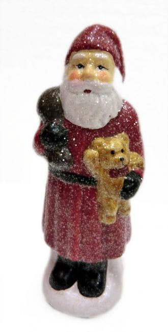 Glitter Nikolaus mit Teddy