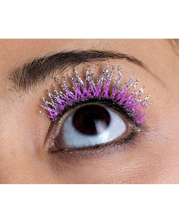 Glitter Wimpern violett
