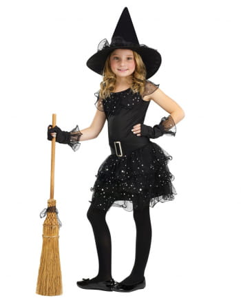 Glitter Hexe Mädchenkostüm