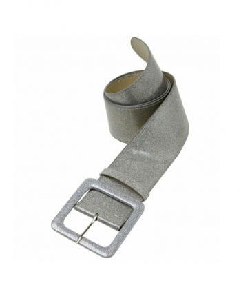 Glitter belt with silver glitter