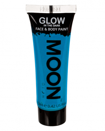 Glow In The Dark Make-up Blue