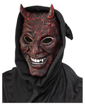 Glowing devil mask with light and sound