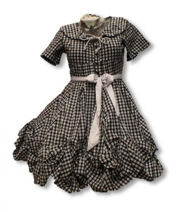 Karo Kleid in schwarz weiß