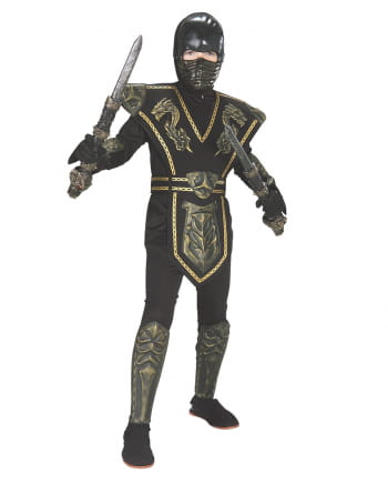 Gold Dragon Ninja Kids Costume