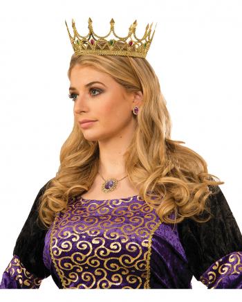 Goldene Königinnen Krone mit Schmucksteinen