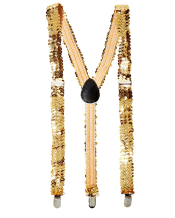 Golden Sequined Suspenders