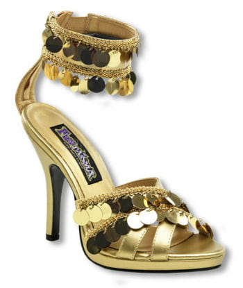 Golden Sandals with ankle