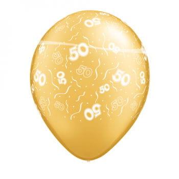 50 Jahre Jubiläum Luftballons