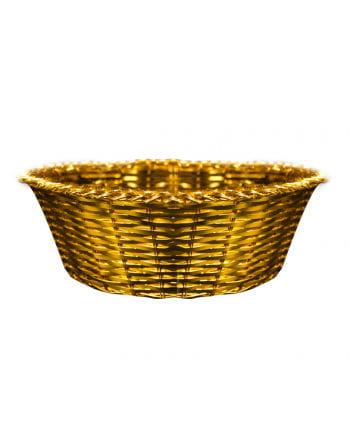 Goldkörbchen aus Metall