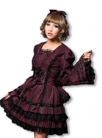 Anime Kleid schwarz-bordeaux