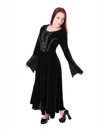 Gothic Medieval Dress Velvet Black