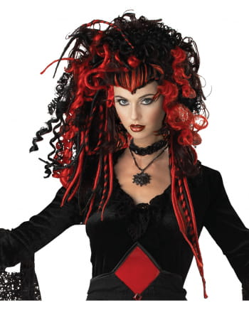 Gothic Vamp Wig Black-red