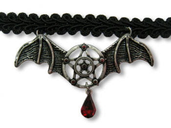 Collar with bat wings