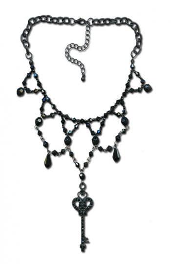 Perlenhalsband mit Schlüssel