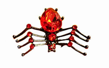 Gothic Ring Spinne Rot