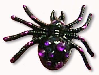 Gothic Ring Spider Black