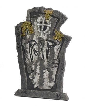 Grabstein Todesruhe mit Moos 54 cm