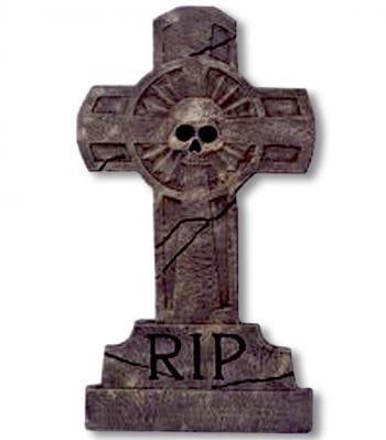 Grabstein Kreuz Skull RIP
