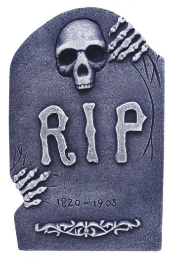 Grave stone with skeleton hand