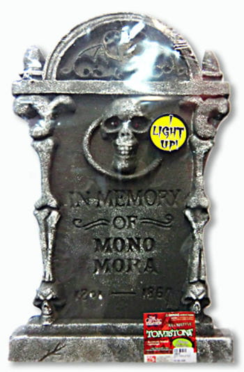 Tombstone with Skull and LEDs