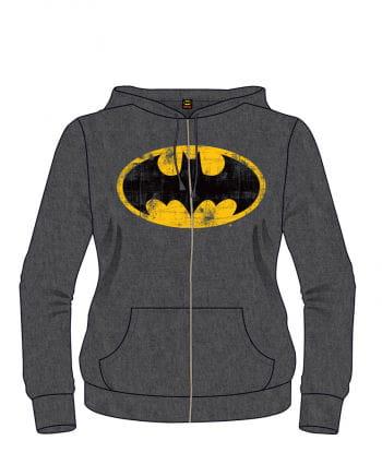 Batman Retro Logo Hoodie grau