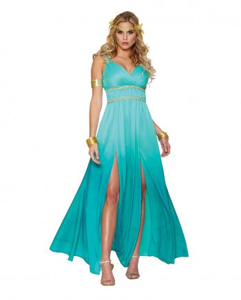 Greek Goddess Aphrodite Ladies Costume Turquoise