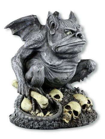 Grim Gargoyle on Pile of Skulls