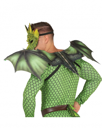Green Dragon Wings As Costume Accessory
