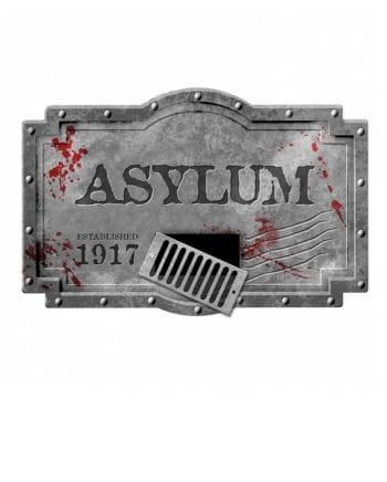 Großes Asylum Dekoschild