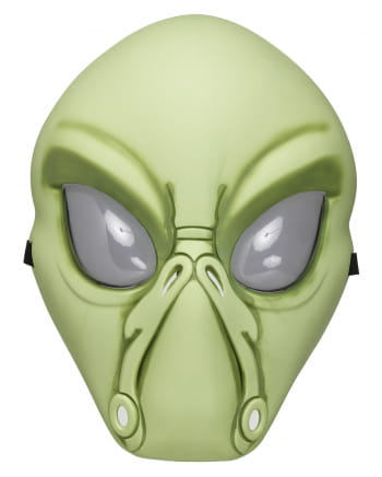 Green Alien Half Mask