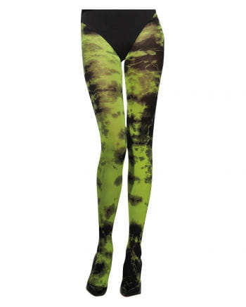 Marmorierte Damenstrumpfhose grün
