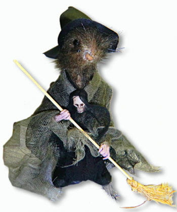 Green Witch Rat Standing Decoration Small 22 cm