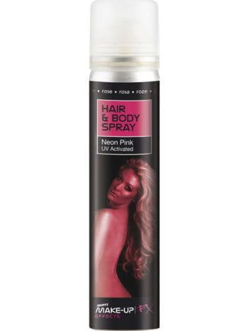 Pinkes Haar und Körper UV-Spray